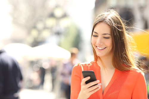 Woman with smartphone, picture